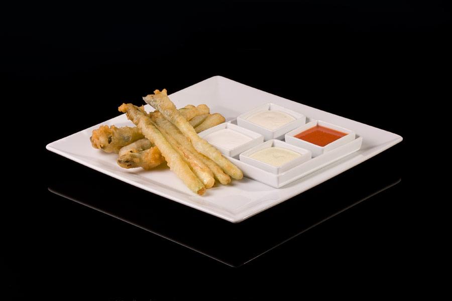 Wild asparagus tempura